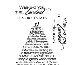 mse my sentiments exactly clear stamps christmas oh christmas tree lyrics included - Oh Christmas Tree How Lovely Are Your Branches Lyrics