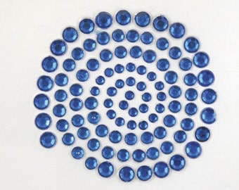 Kaisercraft - Rhinestones - DARK BLUE - Self Adhesive - sb704 - Crystal - Gemstones
