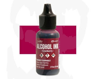 Ranger - Tim Holtz - Alcohol Ink - CRANBERRY - Red