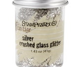 Stampendous - Frantage - Crushed Glass Glitter - Chunky - Silver