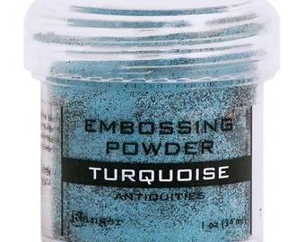 Ranger - Embossing Powder - Antiquities - Turquoise - Blue