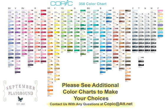 Copic Sketch Markers Your Choice Of 12 Colors Pay For Etsy