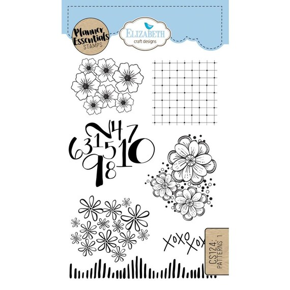 Elizabeth Craft Designs Planner Essentials Clear Stamps Etsy