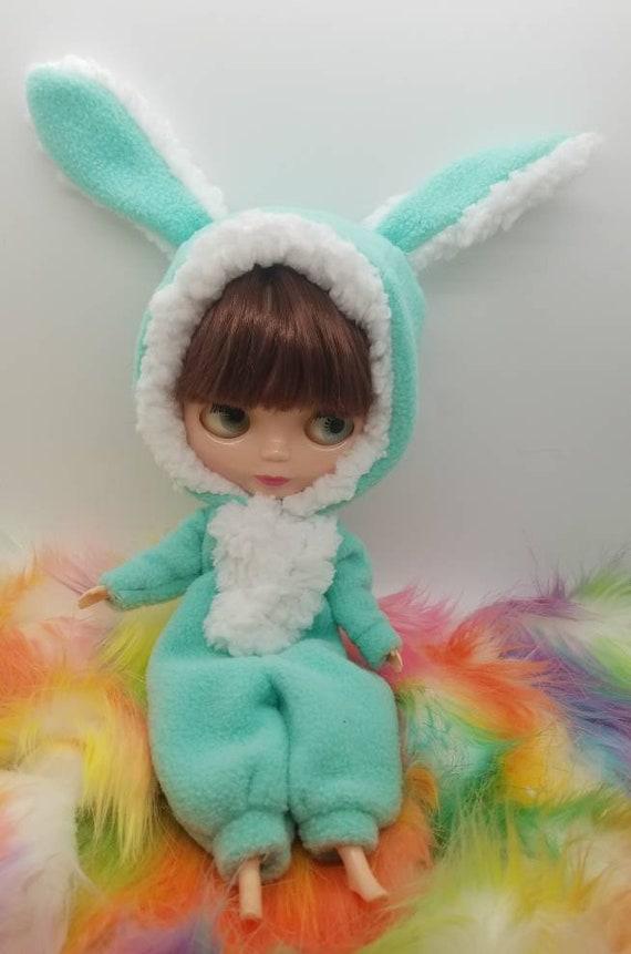 Pink Bunny Kigurumi for 12 Neo Blythe
