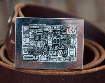 Letterpress Type Belt Buckle