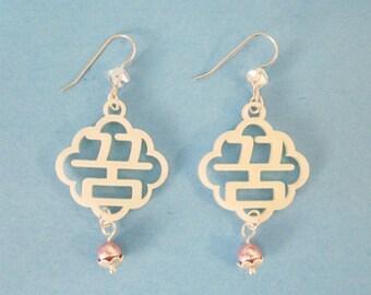 Korean Hangul Earrings Dream (Kkoom) Ivory, Wedding Gift for Her, Korean Bridal Shower, Scalloped Cloud Jewelry, Anniversary Love Earrings