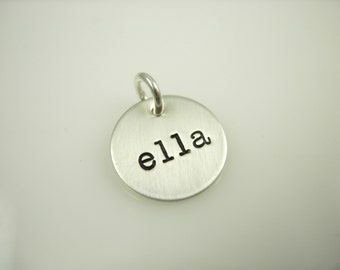 Name Charm Add on Silver Pendant