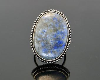 Lapis Lazuli Ring,Rare Men's Lapis Ring,Silver Tribal Jewelry, ethnic Ring,Statement Women's ring, Modern Minimalist ring Boho