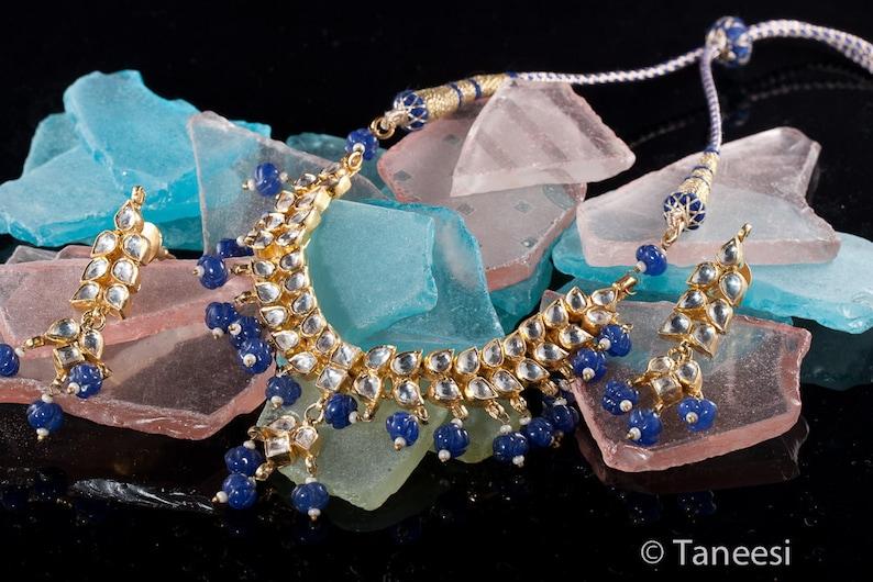Kundan Necklace and Earrings setRoyal Mughal JewelleryIndian image 0