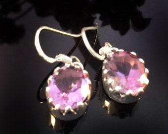 Fine Jewelry-Amethyst Earrings,925 Sterling Silver,Purple Gemstone Earrings,-Modern Minimalist jewelry by Taneesi