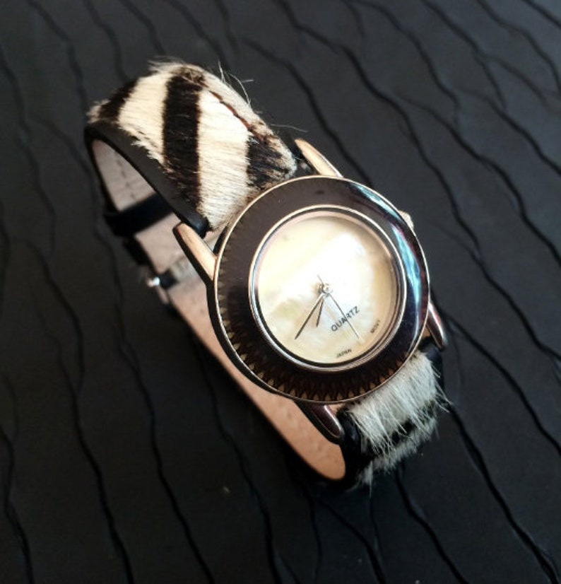 Vintage WatchMother of Pearl Dial Watch Vintage 1970's image 0