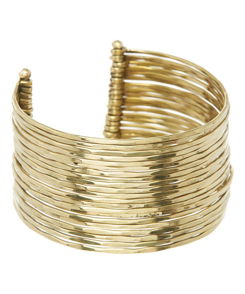 Gold Bangle Cuff BraceletMulti Bangle Gold