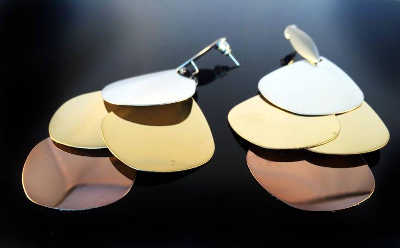 Modern Chandelier earrings-Petal Earrings-Geometric image 0