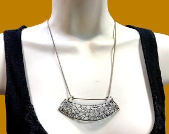 """Pendant Necklace Vintage Victorian silver necklace, """" Stars in the Sky"""" large pendant silver chain, Celtic by TANEESI"""