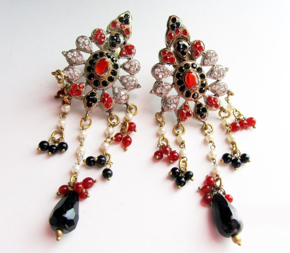 Crystal Chandelier Online India: CLEARANCE SALE Crystal Chandelier Earrings-Indian