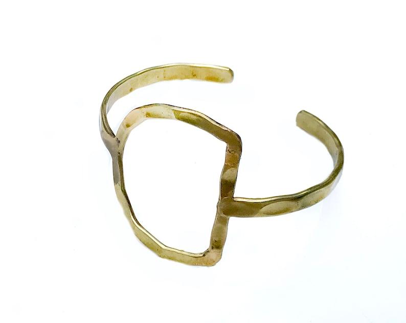 Gold Bangle Cuff BraceletMinimalist gold image 0