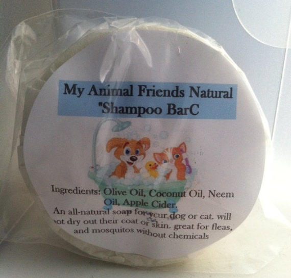 Animal Pet Friends Natural Shampoo Cleansing Bar or Liquid Shampoo- Flea-  Mosquitos-and Tick protection-dogs-cats-mane moisturizer-NATURAL