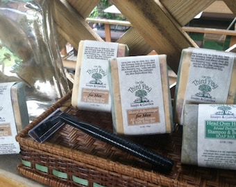 Mens organic, All-Over Shower- Gift soap-gift set. Great for the man on the go.
