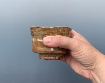 Autumn Leaves Wood Fired Tea Bowl by Lynn Isaacson