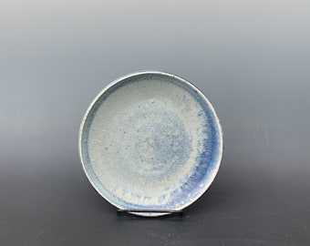 Blue Wave Salt Fired Salad Plate by Lynn Isaacson