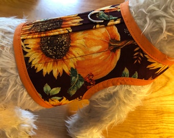 Sunflower harvest print   Dog Harness Made in USA, dog harnesses, pet clothing