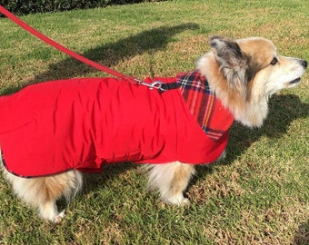 Red Waterproof, Thinsulate insulated, breathable fleece or sherpa Lined  Dog Winter Jacket, Dog Coat, Dog Jackets, Dog Jacket