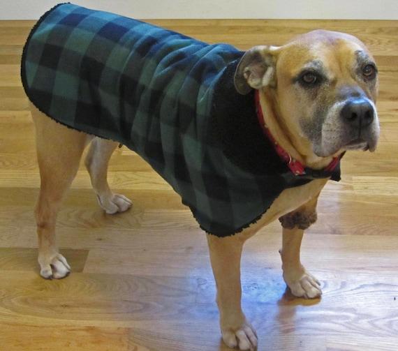 Grün Buffalo Check Fleece Hundemantel Hundejacke Hund | Etsy