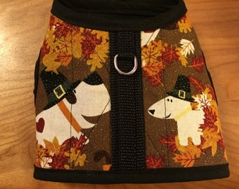 Pilgram Pup Thanksgiving Dog Harness, Thanksgiving, Made in USA, dog harnesses, pet clothing