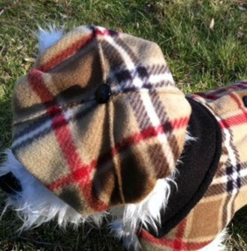 3f7b74cb52d5d British Plaid Dog Beret Hats for dogs Dog Hat