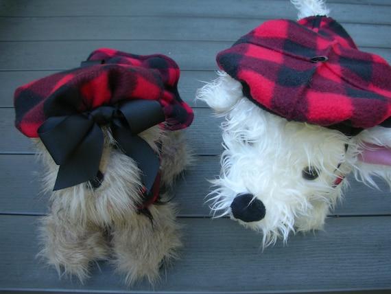 56ad99342b035 Buffalo Check Beret Girl or Boy version Dog Beret Hats for