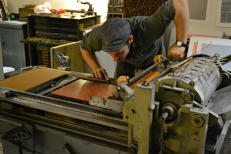 Letterpress Dice Print Lapetus Relief Print