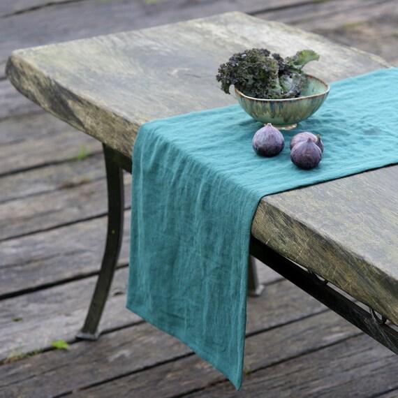 Linen Table Runner Dining Table Runner Table Decor Long Etsy