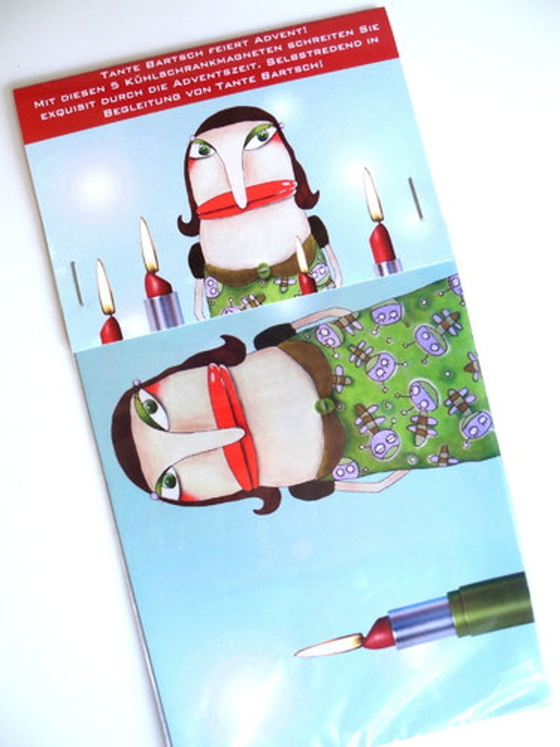 Set of 5 Advent Magnet auntie Bartsch image 0