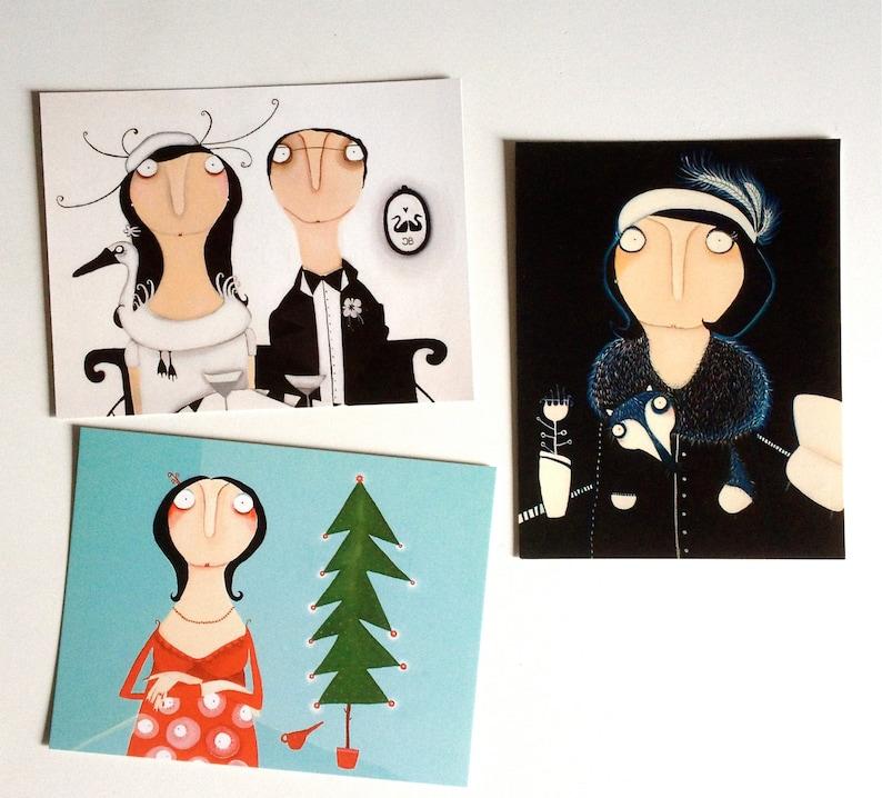 3 Fridge Art Magnets for christmas image 0
