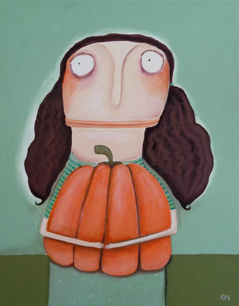 Verena Witkopp-Rickassel: I want this pumpkin  acrylic image 0
