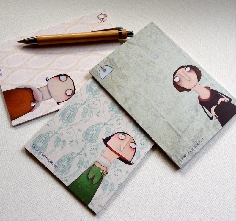 3 block ade notepads blocks with Dr. Renate Chevalier Anais image 0