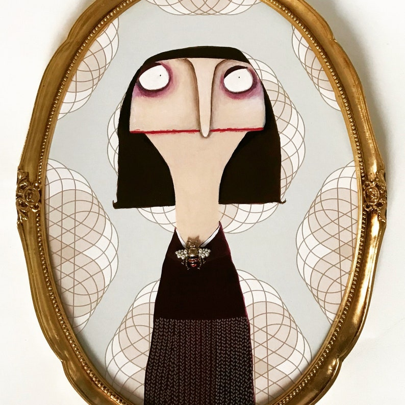 Mildred Herbolzheim with high quality Fly brooch gold-framed image 0