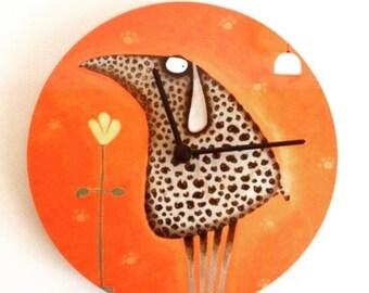 Wool-Kitchen-Clock by Edyta Krabellus Wallclock Kitchenclock