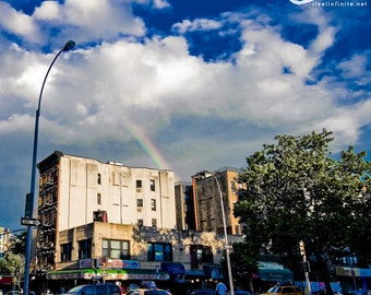 Fine Art Print - 10x10 - A Rainbow in New York City