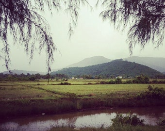 8x8 Fine Art Print: Countryside outside of Kep (Cambodia)