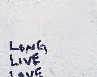 8x8 Fine Art Print: Long live love