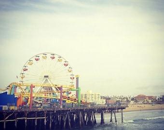 8x8 Fine Art Print: Santa Monica Pier