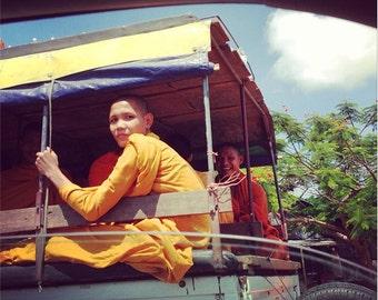 8x8 Fine Art Print: Monk (Roadtrip) in Cambodia