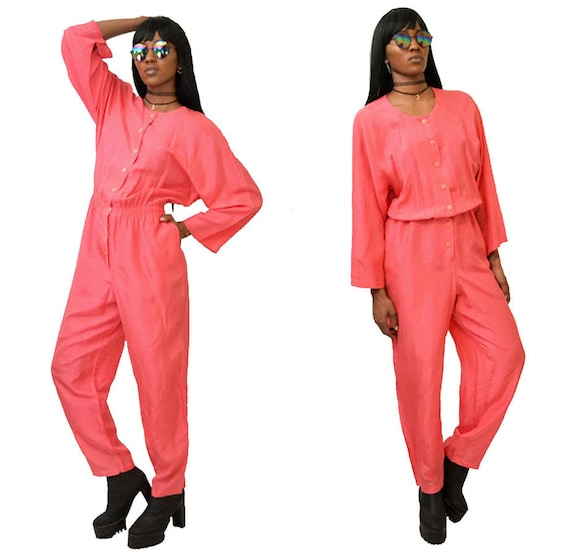 Talk of the Town Hot Pink Jumpsuit // ML