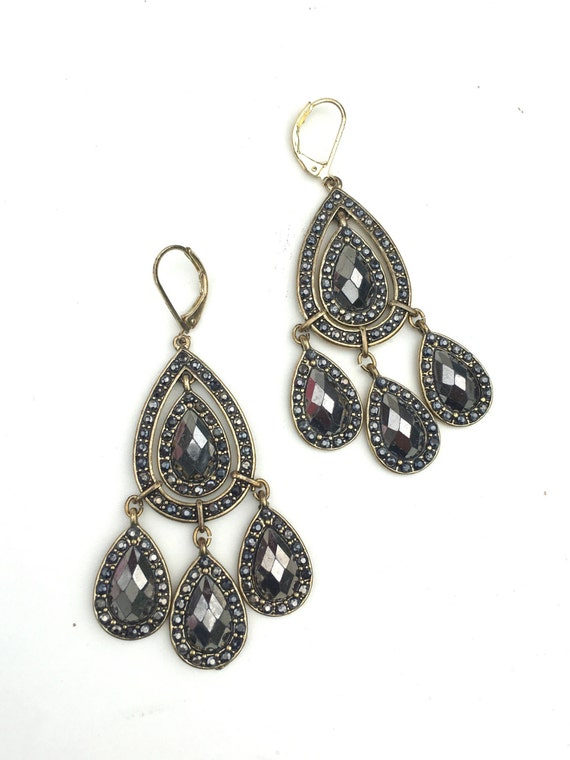 Sold sold vintage avon nr marcasite chandelier earrings etsy image 0 aloadofball Image collections