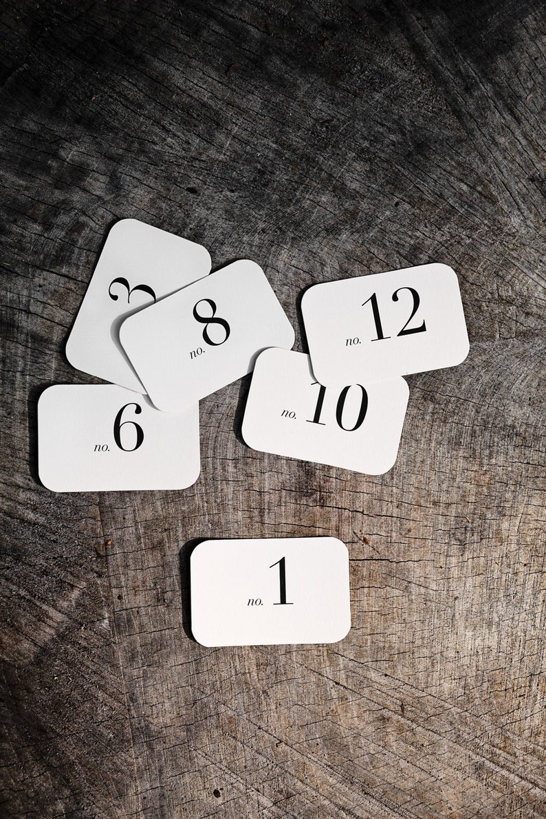 Rectangle Number Place Cards 1-12 image 0