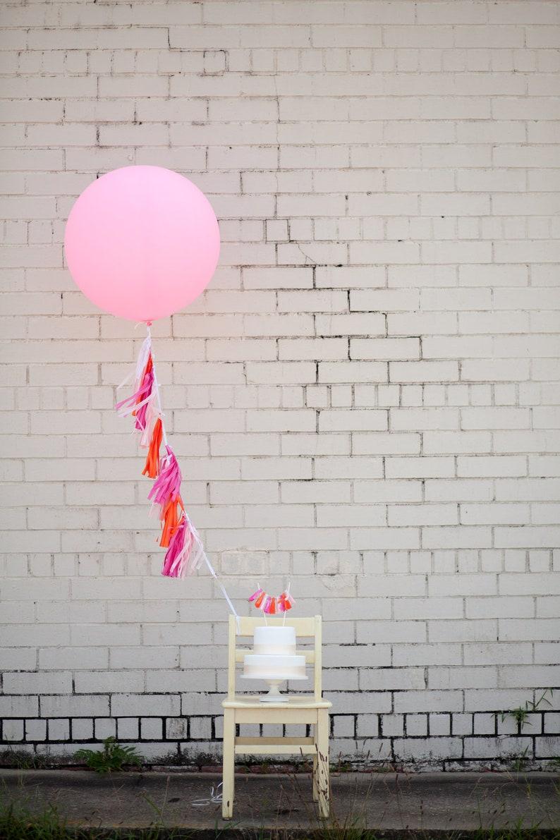 Balloon Tassels: Hot Pink image 0