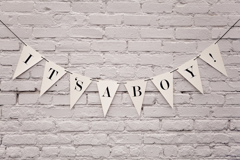 It's A Boy Banner: Triangle image 0