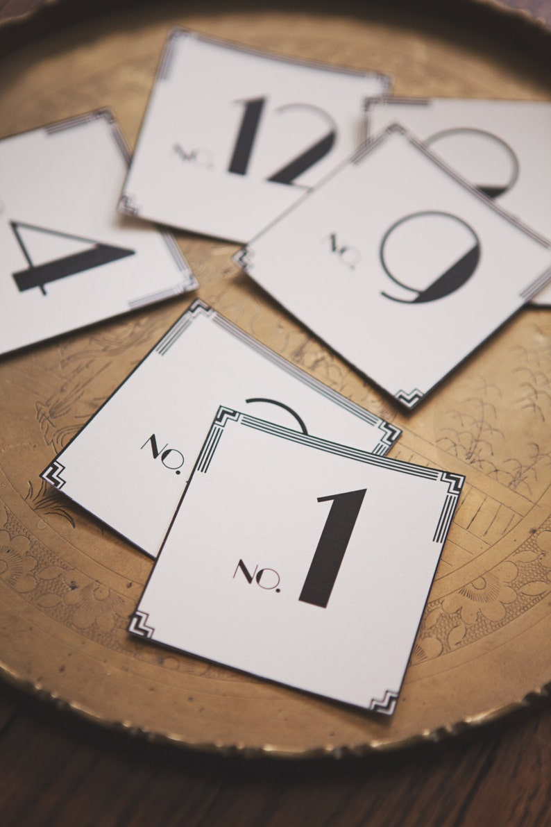 Art Deco: Table Number Cards 1-12 image 0