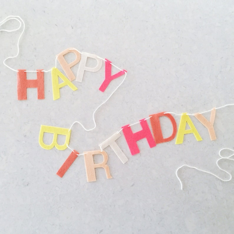 Happy Birthday Felt Letter Banner image 0